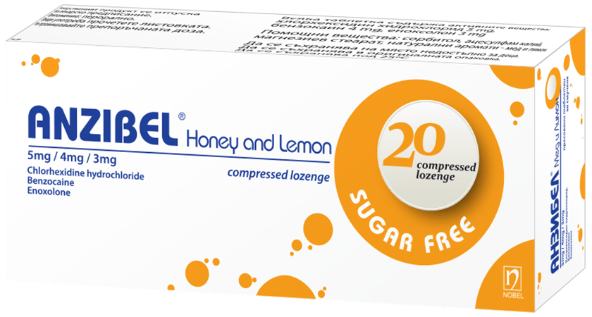 Anzibel Honey Lemon 20 Lozenges